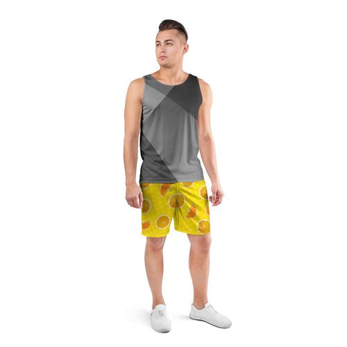 Мужские шорты 3D спортивные  Фото 04, Апельсиновое настроение