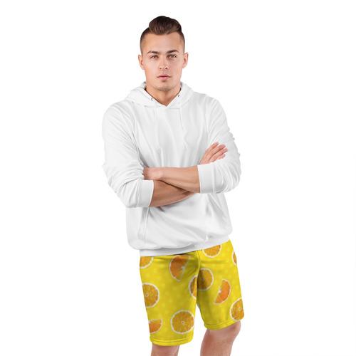 Мужские шорты 3D спортивные  Фото 05, Апельсиновое настроение