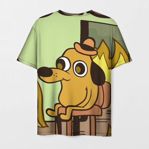 Мужская футболка 3D This is fine Фото 01