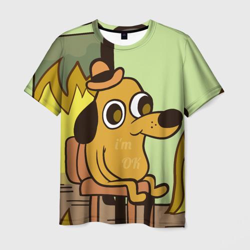 Мужская футболка 3D This is fine