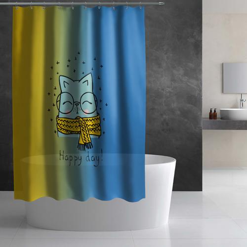 Штора 3D для ванной Хороший день Фото 01