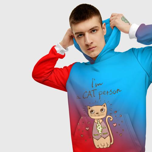 Мужская толстовка 3D  Фото 01, Im a Cat person