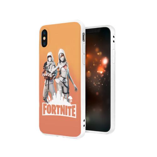 Чехол для Apple iPhone X силиконовый матовый  Фото 03, Fortnite_14