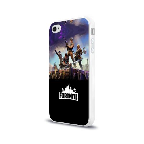Чехол для Apple iPhone 4/4S силиконовый глянцевый  Фото 03, Fortnite_15