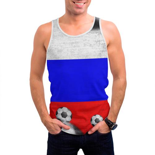 Мужская майка 3D  Фото 03, Фанат сборной России
