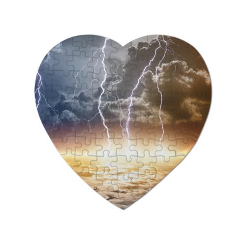 Пазл магнитный сердце 75 элементов Сверкающие молнии