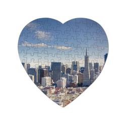 Пазл магнитный сердце 75 элементовSan Francisco
