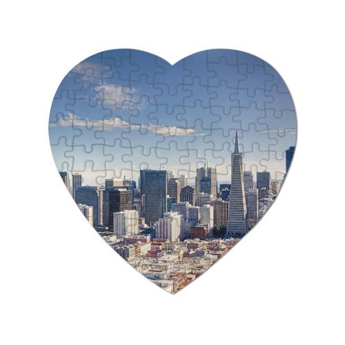 Пазл магнитный сердце 75 элементов San Francisco