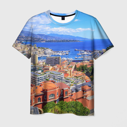 Мужская футболка 3D  Фото 03, Побережье Франции