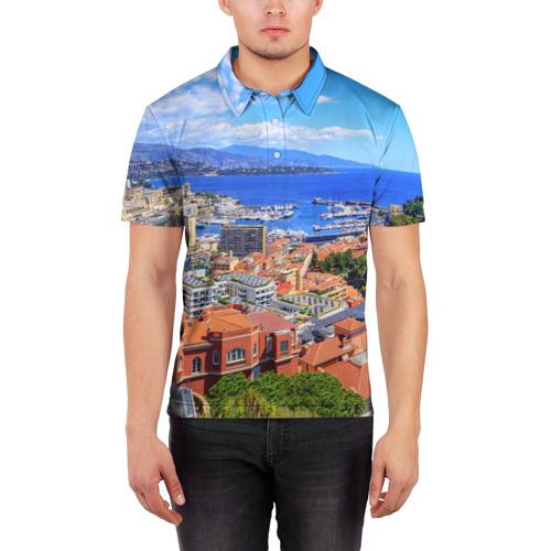 Мужская рубашка поло 3D  Фото 03, Побережье Франции