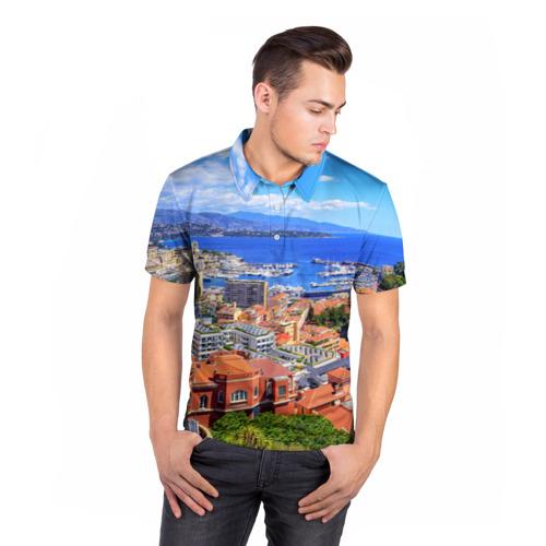 Мужская рубашка поло 3D  Фото 05, Побережье Франции