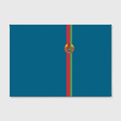 Холст прямоугольный  Фото 02, Белоруссия, лента с гербом