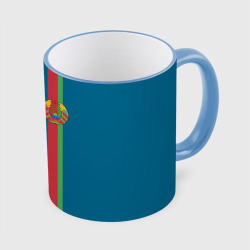 Кружка с полной запечаткой Белоруссия, лента с гербом