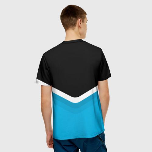 Мужская футболка 3D  Фото 02, BMW Black & Blue