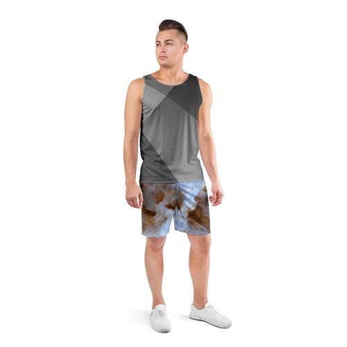 Мужские шорты 3D спортивные  Фото 04, Кристализация