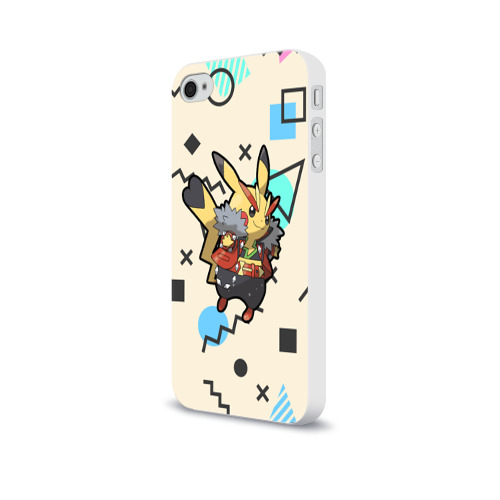 Чехол для Apple iPhone 4/4S soft-touch  Фото 03, Pikachu