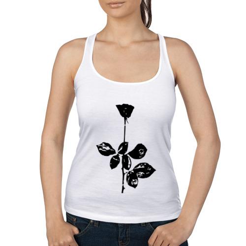 Женская майка борцовка  Фото 01, Depeche Mode черная роза