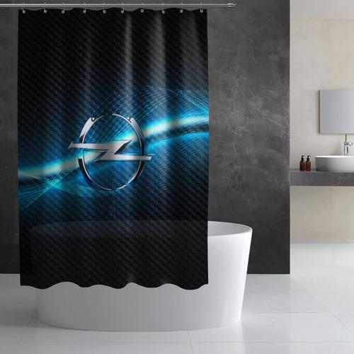 Штора 3D для ванной OPEL machine motor XXI Фото 01
