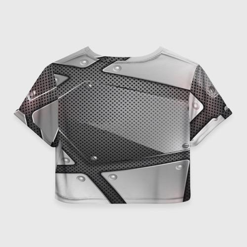 Женская футболка 3D укороченная  Фото 02, KIA metalic 2018