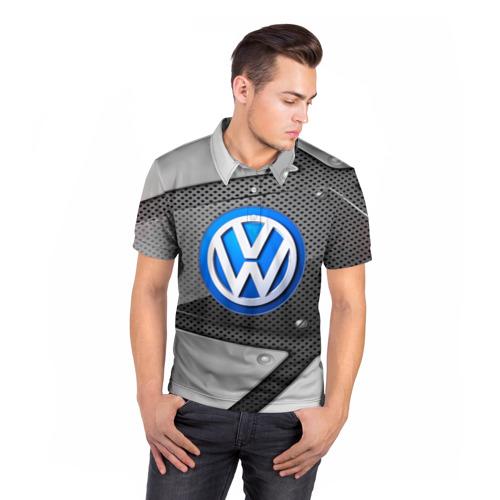 Мужская рубашка поло 3D  Фото 05, Volkswagen metalic 2018