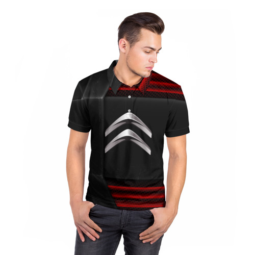 Мужская рубашка поло 3D  Фото 05, Citroen auto sport