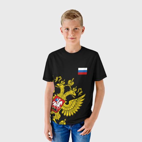 Детская футболка 3D Флаг и Герб  России