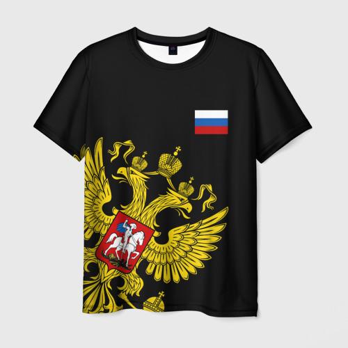 Мужская футболка 3D Флаг и Герб  России