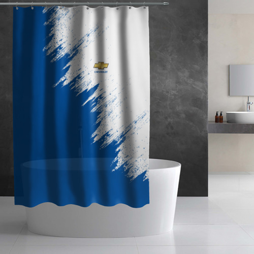 Штора 3D для ванной Chevrolet Фото 01