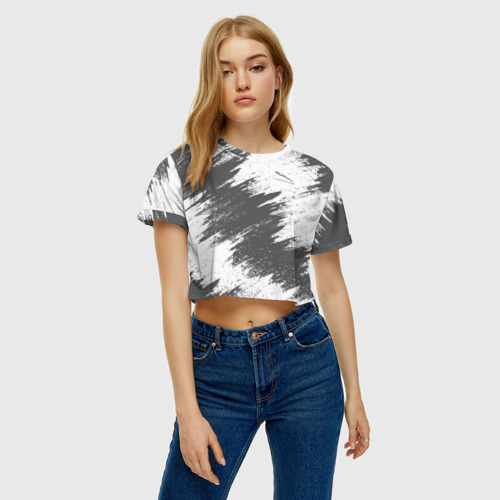 Женская футболка 3D укороченная  Фото 04, Jaguar