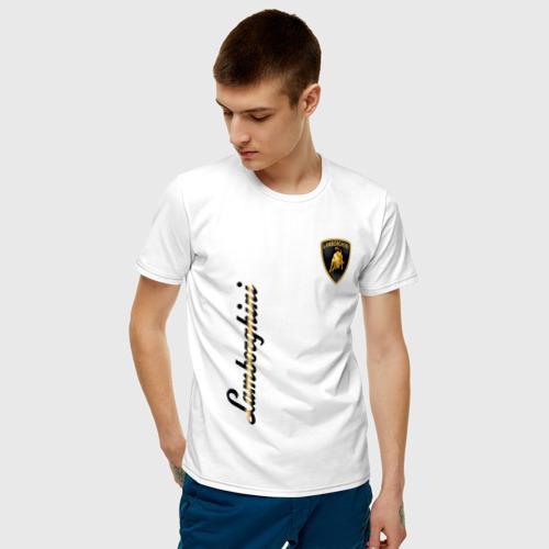 Мужская футболка хлопок Lamborghini Фото 01