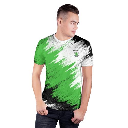 Мужская футболка 3D спортивная  Фото 03, Skoda