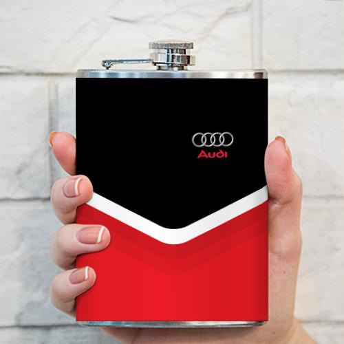 Фляга  Фото 03, Audi Black & Red