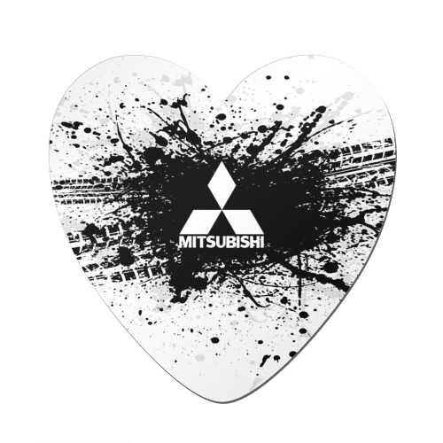 Магнит виниловый сердце  Фото 01, Mitsubishi