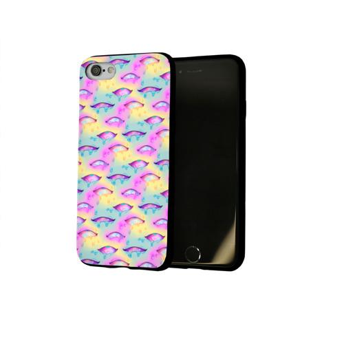 Чехол для Apple iPhone 8 силиконовый глянцевый Влажные глазки Фото 01