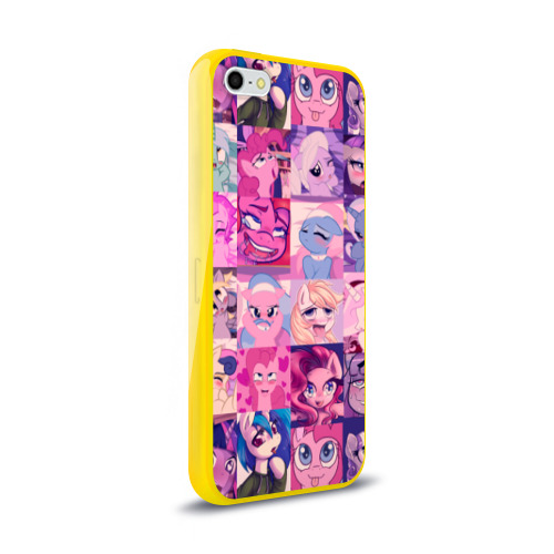 Чехол для iPhone 5/5S глянцевый My Little Pony Ahegao Фото 01