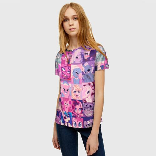 Женская футболка 3D My Little Pony Ahegao Фото 01