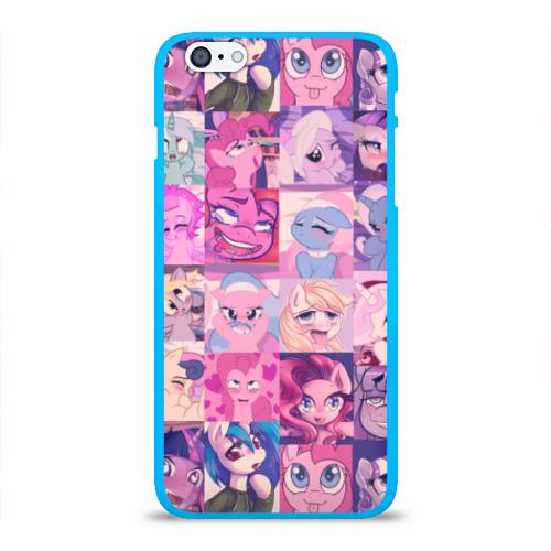 Чехол для iPhone 6/6S Plus глянцевый My Little Pony Ahegao Фото 01