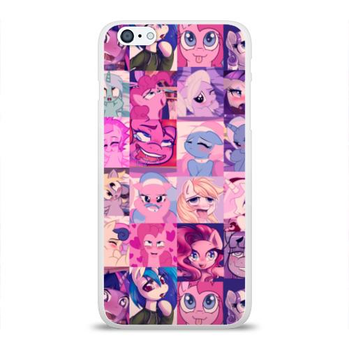 Чехол для Apple iPhone 6Plus/6SPlus силиконовый глянцевый  Фото 01, My Little Pony Ahegao