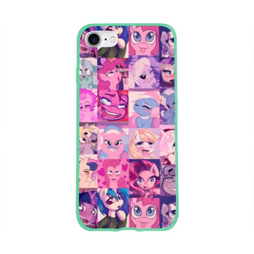 Чехол для Apple iPhone 8 силиконовый глянцевый My Little Pony Ahegao Фото 01
