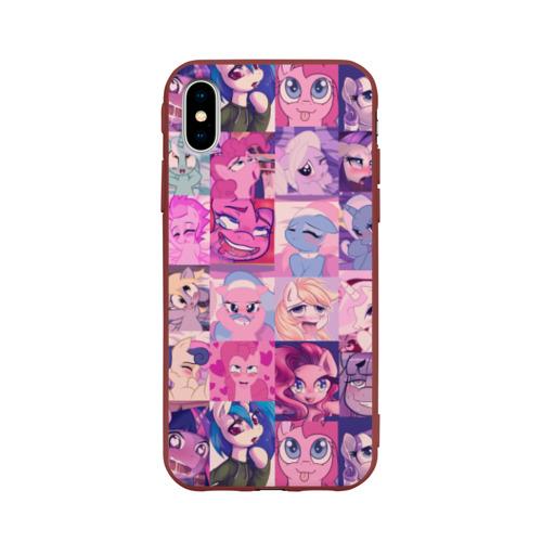 Чехол для iPhone X матовый My Little Pony Ahegao Фото 01