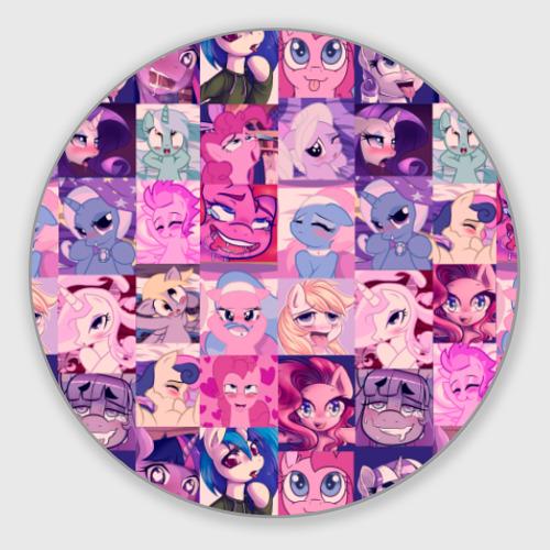 Коврик для мышки круглый My Little Pony Ahegao Фото 01