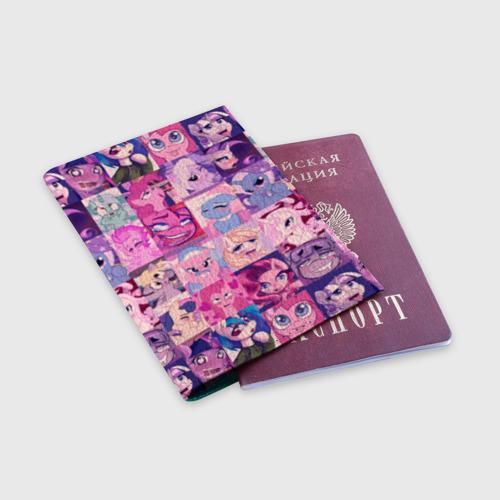 Обложка для паспорта матовая кожа My Little Pony Ahegao Фото 01