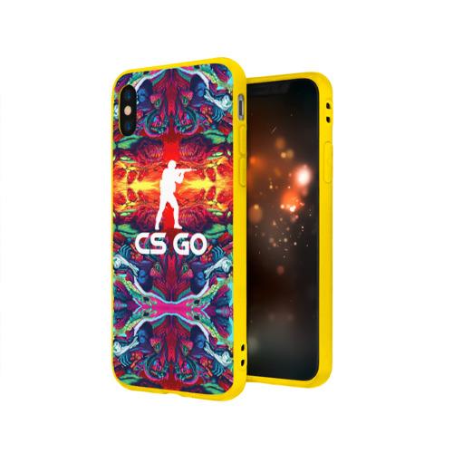 Чехол для Apple iPhone X силиконовый матовый Скоростной зверь CS GO Фото 01