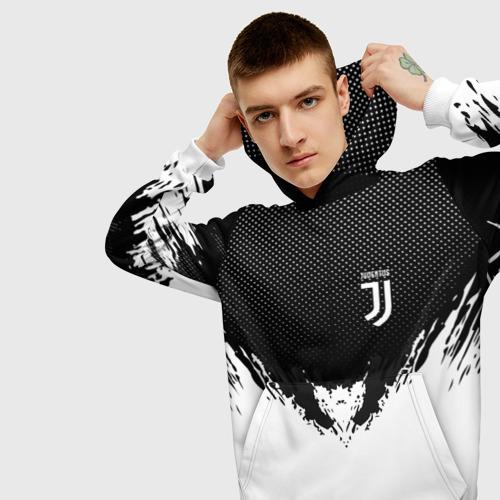 Мужская толстовка 3D  Фото 01, Juventus black 2018