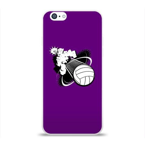 Чехол для Apple iPhone 6 силиконовый глянцевый  Фото 01, Волейбол