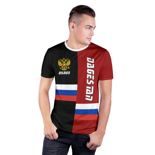 Мужская футболка 3D спортивная  Фото 03, DAGESTAN (Дагестан)