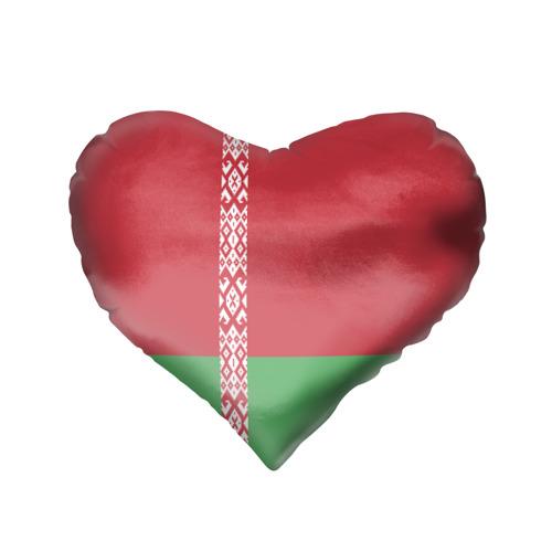Подушка 3D сердце  Фото 02, Белоруссия, лента с гербом