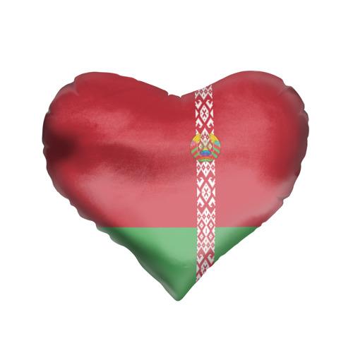 Подушка 3D сердце  Фото 01, Белоруссия, лента с гербом