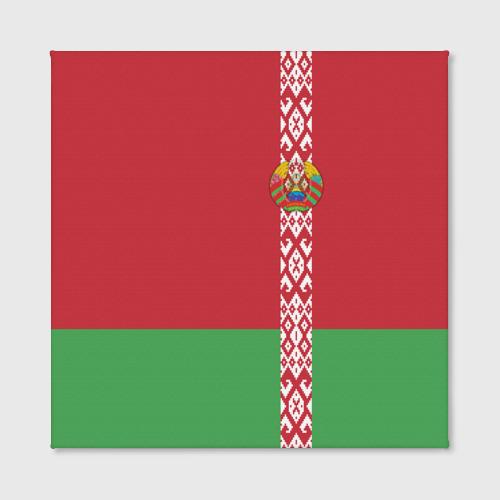 Холст квадратный  Фото 02, Белоруссия, лента с гербом