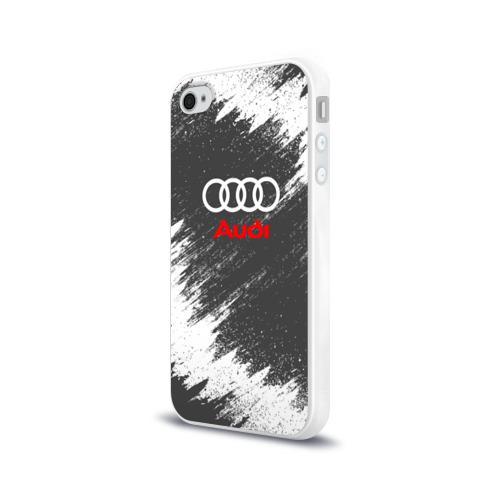 Чехол для Apple iPhone 4/4S силиконовый глянцевый Audi